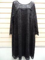 SHEEGO DRESS BLACK LACE SIZE 18,26 ANNA SCHOLZ  PARTY  BNWT   (G013)
