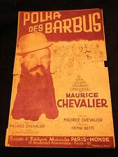Partition Polka des barbus Maurice Chevalier Music Sheet