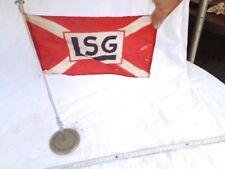 Alte Tisch-Fahne LSG Hamburg 30er 40er Lager und Speditionsgesellschaft