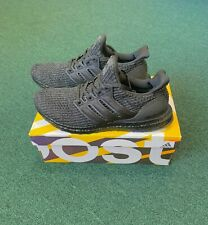 Adidas Mens Ultra Boost 4.0 Triple Black Shoes BB6171 Size 10