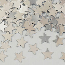 BRAND NEW AND SEALED SILVER STAR CONFETTI FOR TABLE DECORATION AND ART AND CRAFT