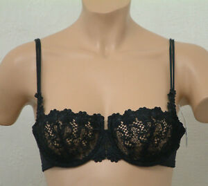 BARBARA 569/84569 EMBROIDERED LACE UNDERWIRED BRA BLACK AND WHITE