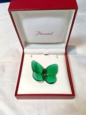 Baccarat Crystal Brooch Papillon Emerald - 101204 - Broche Spilla Smeraldo NEW