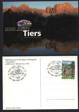1999 TIERS TIRES 1000 ANNI JAHRE AFFRANCATA TIMBRO COMMEMORATIVO  (B8)