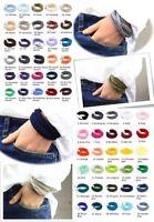 3-er Paket Wickelarmbänder Stoff in Wunschfarben Freundschaftsarmbänder unisex