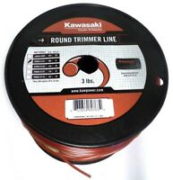 KAWASAKI Trimmer Line Round 3LB .095 Commercial Grade NEW made in USA genuine