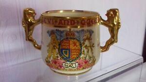 Paragon Twin Handled Loving Cup : George VI & Elizabeth Coronation, May 1937