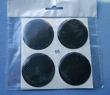 (55C) 4x Carbon Lock Embleme für Nabenkappen Felgendeckel 55mm Silikon Aufkleber