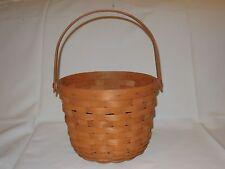 1989 Longaberger Medium Fruit Basket Swing Handle Inverted Bottom Usa
