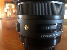 Sigma 30mm f/1.4 DC HSM ART Lens for Canon EOS DSLR Cameras