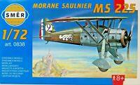 SMER MORANE-SAULNIER MS 225, französisches Flugzeug, Bausatz 1:72,0838,OVP,NEU