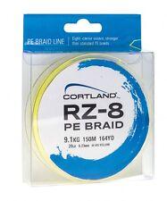Cortland RZ8 Braid 8 Strand Braid 150yds 10lb Braid PE1 Hi-Vis Yellow New