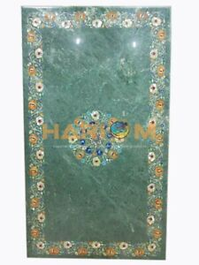 4'x2' Marble Dining Table Top Mother of Pearl Floral Inlay Hallway Decors B202A