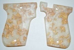 Phoenix Arms HP22 HP25 pistol grips Pearl with Gold Leaf plastic