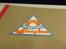 2 Hotel Interlaken Simplon Pass, Switzerland Luggage Label/Sticker  6/16