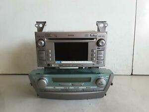 TOYOTA CAMRY STEREO/HEAD UNIT 6 STACK CD PLAYER, ACV40, W/ BLUETOOTH, NON REVERS