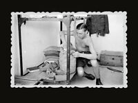 1940s British Soldier Army Room Bag Bed Book Crate Vintage Hong Kong Photo #751