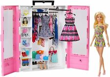 Mattel Barbie Fashionistas Traum Kleiderschrank mit Puppe und Puppenzubehör OVP