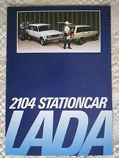 LADA 2104 ESTATE STATIONCAR orig c1986 Dutch Mkt Sales Brochure Prospekt Folder