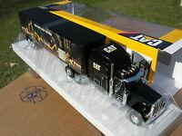 NORSCOT 1/50 CAMION PETERBILT model 379  6X4  +REMORQUE CATERPILLAR!