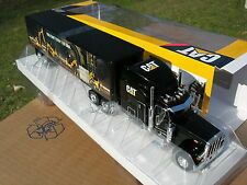 NORSCOT 1/50 CAMION PETERBILT model 379  6X4  +REMORQUE CATERPILLAR!