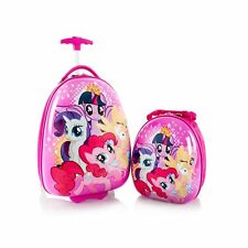 """Heys My Little Pony Kids 2pc- 18"""" Hard Luggage and 13"""" Backpack Official License"""