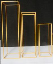 Set of 3 Gold Metal Flower stand Wedding Centrepiece 150cm ,180cm & 210cm