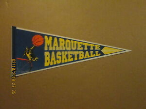 NCAA Marquette Basketball Vintage 1990's Wincraft Logo College Pennant