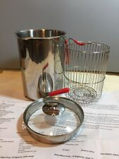 Kuhn Rikon 4200 12-Cup 4th Burner Pot Stainless Steel New