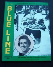 Blue Line WHA Hockey Magazine New England Whalers vs Cin Stingers Jan 1977