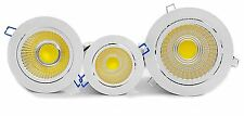 High Power 12W Tillt COB LED Recessed Ceiling Down Lights Cabinet Warm White