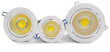De alta potencia de 12W tillt COB LED Retraído Cielorraso Luces Cenitales Gabinete Blanco Cálido