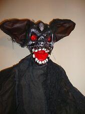 Halloween Grand suspendus décoration chauve-souris allume yeux & spooky sons 2 Mètres de GROS
