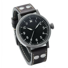 Laco Westerland Aviator Watch, Ref. 861750, Hand Wound, Stainless Sand-Blasted