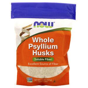Whole Psyllium Husks, 16 oz (454 g)