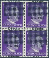 Lot Stamp Germany Block 1945 WWII Third Reich Hitler May 6 End War Dobeln OP MNH