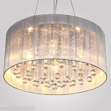 Elegant 4 Light Crystal Chandelier Pendant Lighting Ceiling Fixture Lamp White