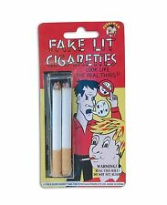 REALISTIC FAKE LIT CIGARETTES FANCY DRESS PARTY ACCESSORY