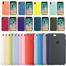 Original Silicone/Leather Case For iPhone 11 XS Max 6 7 8 Plus Genuine OEM Cover