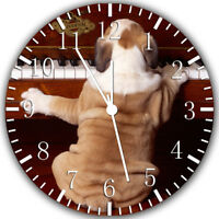 Cute English Bull Dog Frameless Borderless Wall Clock Nice Gifts or Decor W333