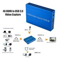 4K HDMI to USB 3.0 Video HDMI Capture Card Dongle 1080P 60fps HD Video Recorder