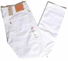Levis 511 Slim Fit Low Rise White Stretch Jeans Pants Men 29 30 32 33 34 36 42