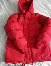 VTG EDDIE BAUER Goose Down RED POLAR PARKA Jacket Karakoram Hooded Medium