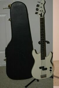 Kay Star Ter Series White Electric Bass Guitar with hard case