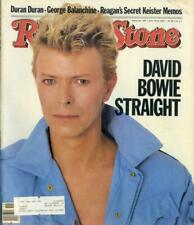 David Bowie: Rolling Stone Magazine Cover #395 May 12Th, 1983 Ref 3287F