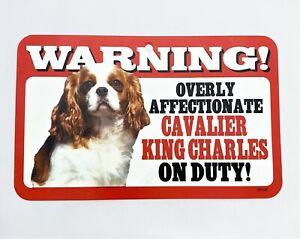 BN Cavalier King Charles Spaniel Gift Warning Sign Plastic On Duty Blenheim
