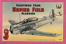 Napier Field Dothan Alabama Greetings Large Letter Linen Postcard