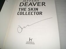 JEFFERY DEAVER - The Skin Collector SIGNED Hb - 2014 - LINCOLN RHYME book 11