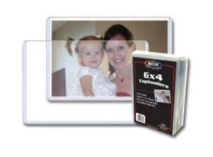Pack of 25 BCW 6 x 4 Postcard / Photo Rigid Hard Plastic Topload Holders 6x4