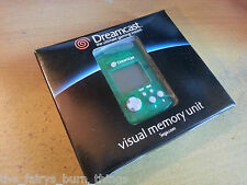 Official VMU Boxed Green Sega Dreamcast  Boxed Good Condition New Memory Card